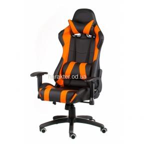 Кресло геймерское, компьютерное ExtremeRace black/orange, black/red тсп