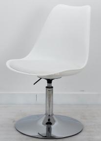 Стул офисный Милан (Milan CH-Base) мягкая сидушка, основание блин, хром ом