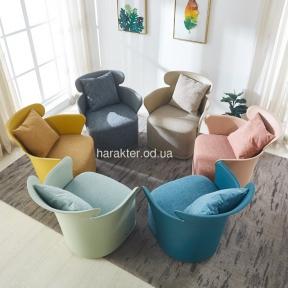 Кресло мягкое Элин пластик, ткань, Пуф Элин ткань ом
