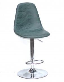 Стул барный Lari bar нубук желтый, зеленый, основа блин или деревянные ножки (бук, черный)