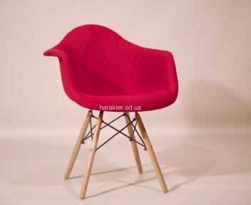 Кресло Leon (Леон) Soft Вискоза (красный, коричневый) ножки деревянные ом