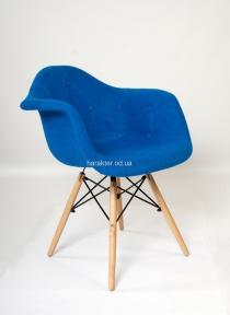 Кресло Leon (Леон) Soft Шерсть (желтый, синий, зеленый, бирюза) ножки деревянные ом