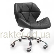 Кресло Стар Нью, мягкое, хромированное, цвет черный, белый, серый