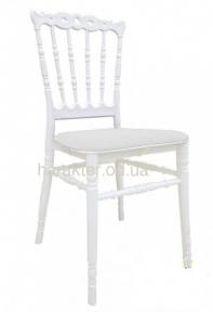 Стул Донна, пластиковый, с подушкой, цвет белый