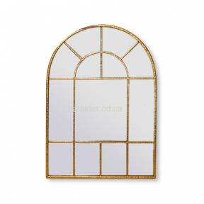 Зеркало Окно 80*56*2.5 см, настенное, металл, золото (кс111046)
