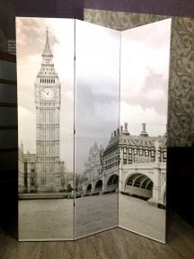 Ширма с фотопечатью под заказ ША Фотопечать ширма Города Париж, Лондон и другие