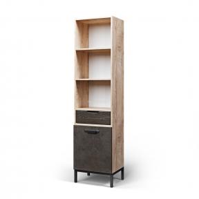 Шкаф книжный, Книжкова шафа вузька G-05 480*380*1900h