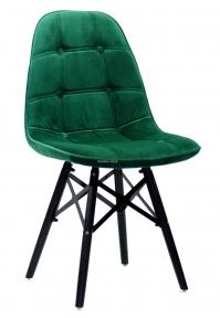 Стул Alex XXL (Алекс) Бархат (бордо, серый, синий, зеленый, черный) ножки деревянные черные ом