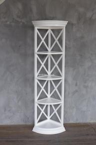 Стеллаж, этажерка, полка угловая в стиле Прованс РБК ПР-11 из ольхи или ясеня покраска в любой цвет