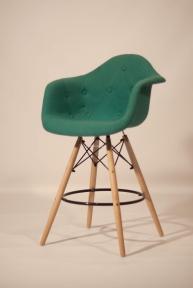 Кресло, стул полубарный Leon (Леон) Soft Шерсть (желтый, серый, зеленый, бирюза, синий) ом