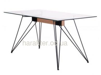 Стол обеденный Каттани черный/стекло прозрачное амф