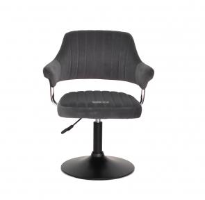 Кресло мягкое Jeff, на колесах или блине, основа хром или черный, экокожа и бархат
