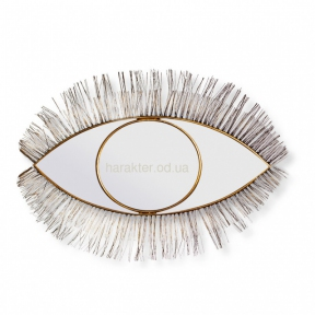 Зеркало Глаз 66*56 см,  настенное, металл, золото, черный (кс111047)