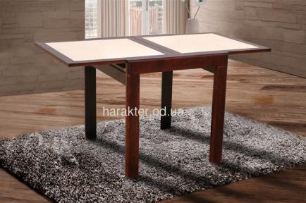 Стол обеденный раскладной Оникс цвет орех, белый (ультра) мм