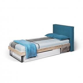 Кровать с мягкой спинкой подростковая, Ліжко с м'яким узголів'ям матрац 900*2000 G-11-5 1030*2200*900h