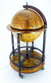 Глобус бар тележка 42003R (W, W-R, W-B) гп