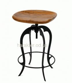 Дизайнерский барный, полубарный стул из массива дерева Модерн РТ
