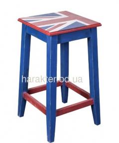 Табурет барный в английском стиле Union Jack ВВ SS003716