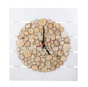 Часы из срезов веток Ветки, Монпансье Круг ВВ SS002300