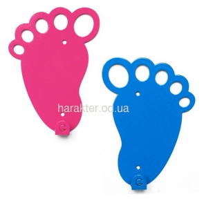 Вешалка настенная Feet Blue, Pink гз