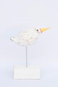 Птичка белая декоративная, 25 см 33104, 30 см 33105 эм