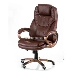 Кресло компьютерное, руководителя Bayron brown (E0420), bronze (E1557) тсп