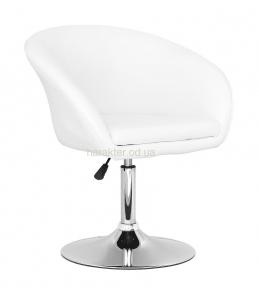 Кресло Мурат, основа блин хром, экокожа чёрный, бежевый, красный,  синий, коричневый