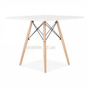 Стол обеденный Тауэр Вуд 80*80 см, Квадро 70*70 см деревянный, квадратный, цвет белый