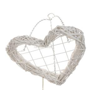 Венок-сердце подвесной, 40*40см (BR001WIK) и 50*50 см (BR002WIK)