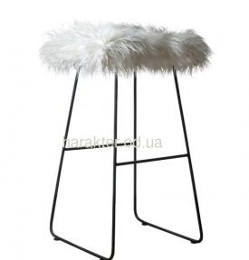 Стул барный ВВ SS004432 Nаgano Нагано сиденье мех (чёрный, белый)