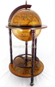 Глобус бар напольный на 3-х ножках 360 мм коричневый 36001-R, 36001L-G