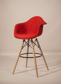 Кресло, стул барный Leon (Леон) Soft Вискоза (красный, коричневый, антрацит) ом