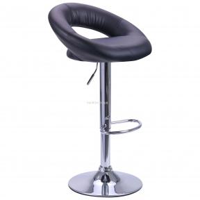 Барный стул Valeri кожзам черный, красный, хром