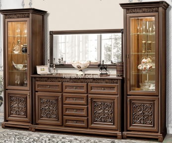 мебель для гостиной Тоскана Наборная система цвет орех