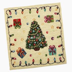 серветка-підкладка під тарілку гобеленова RUNNER, новорічна