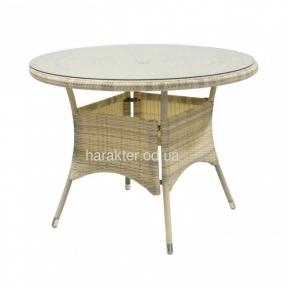 Круглий стіл Wicker (1332) - Обідні столи Garden4You ввк
