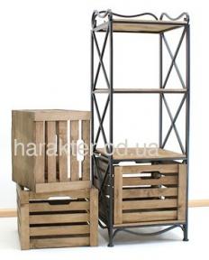 Этажерка на 3 ящика кованная. Этажерка (полка металлическая) 3 вертикальная