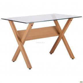 Стол обеденный Maple бук (орех), стекло прозрачное амф
