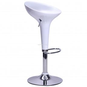 Барный стул Lily пластик белый, красный, черный, основа хром на блине