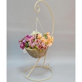 Подставка под цветы JK11, металл, лоза. Размеры - 82*25 см.