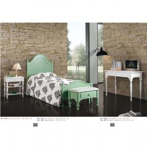 Спальня Арт.446 - Кровать ФС431, тумбочка, пуфик, столик-консоль (тав) Италия