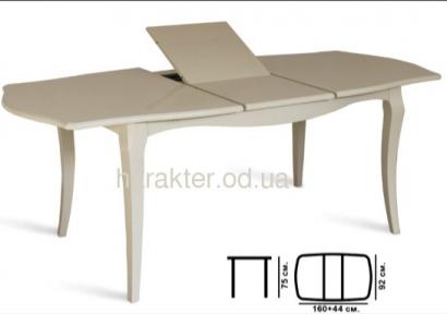 Стол раскладной деревянный Маркиз белый, слоновая кость (белый)  МФ