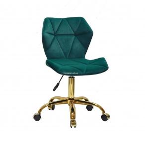Стул офисный, компьютерный Торино основа золото (GD-Office), на колесах, сидушка бархат или кожзам