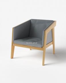 Крісло Air 2 Armchair, масив ясеня, 4 м'яких елемента, текстиль мки