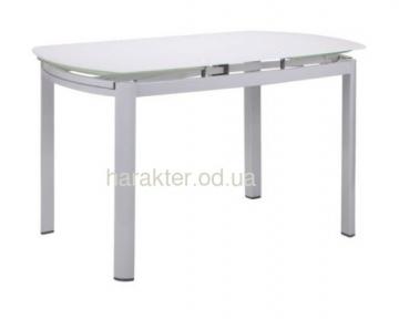 Стол B179-71 1800(1200)*800*770 База белый/Стекло белый