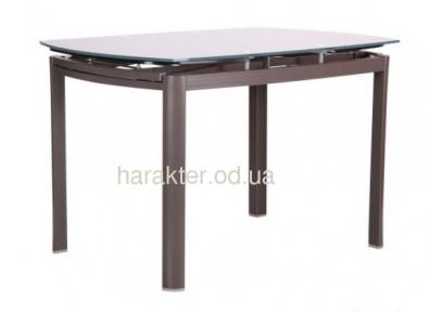 Стол обеденный раскладной Кассандра B179-71 (стекло платина или белый) амф