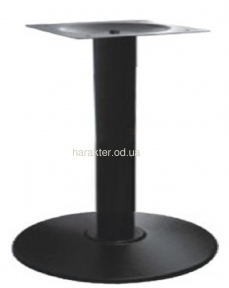Опора для стола Ока, крашенная, цвет черный, высота 72 см мдс