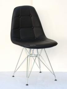 Стул Alex Металл (Алекс) ЭкоКожа (цвет черный, серый, бежевый, желтый) ножки металлические