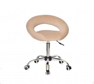 Стул офисный Holy основа на колесах хром, сидушка кожзам или бархат