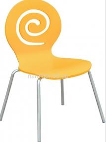 Стул Лев, деревянный, гнутая фанера, цвет синий, желтый, оранжевый, белый, для баров, кафе
